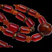 Cherry Bakelite Necklace and Bracelet