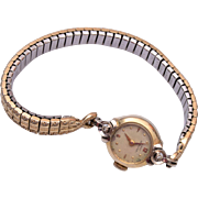Lady Hamilton 14kt Gold Biggs Diamond Watch - Runs!