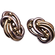 Brian Bergner Silver and Gold Earrings