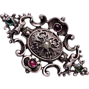 Silver Austro Hungarian Brooch