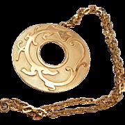Trifari Dragon Pendant Necklace