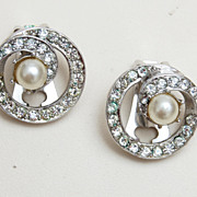 Bellini Rhinestone and Pearl Earrings