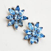 Pell Blue Rhinestone Star Earrings