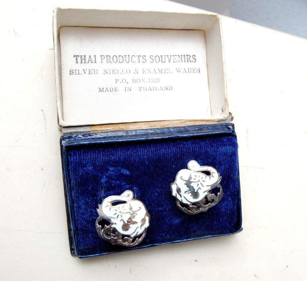 Thai Siam Sterling Earrings in Original Box