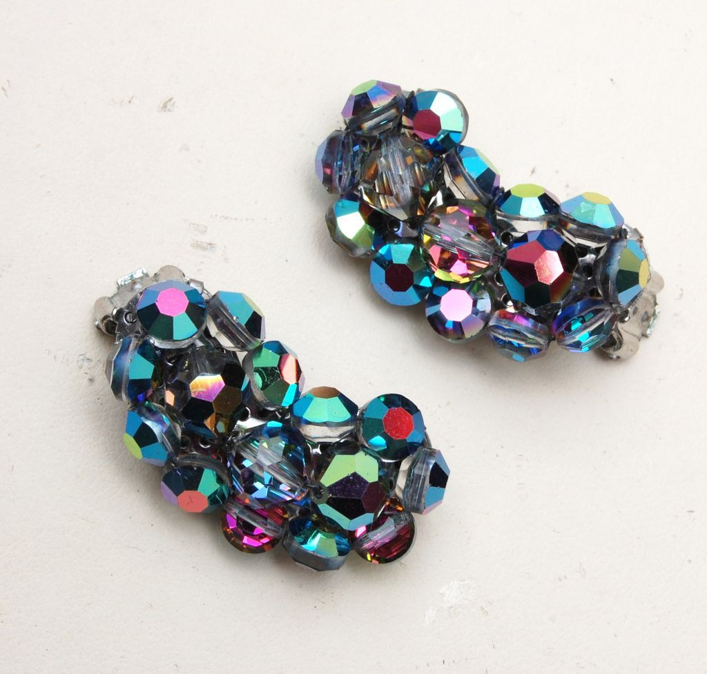 AB Crystal Earrings - Fantastic Condition