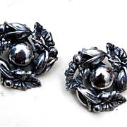 Botticelli Silver Tone Leaf Design Earrings