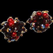 Alice Caviness Red Beaded Earrings