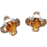 Park Lane Unfoiled Topaz Rhinestone Earrings
