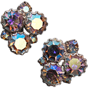 Aurora Borealis Rhinestone Earrings