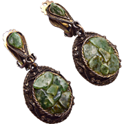 Dangling Jade Earrings