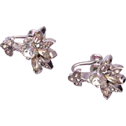 Eisenberg Script E Rhinestone Earrings