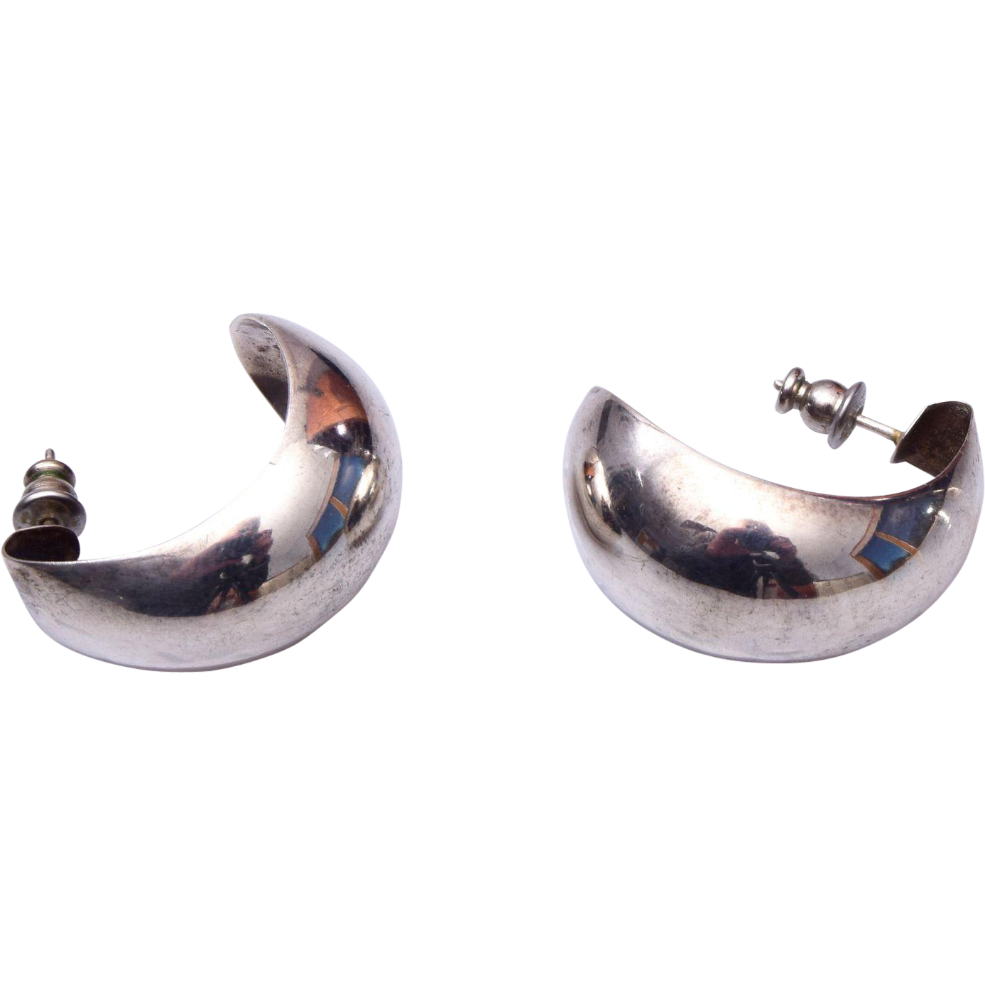 Sterling Hoop Pierced Earrings