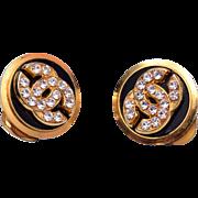 Coco Chanel Rhinestone Earrings
