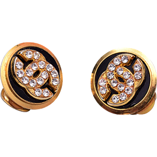 Coco Chanel Rhinestone Earrings