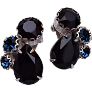 Schiaparelli Black and Blue Earrings