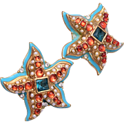 KJL for Avon Star Fish Earrings
