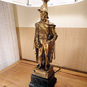 Vintage Italian Borghese Figurine Lamp of Jean Lannes, Circa 1950