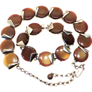 Charel Thermoset Rootbeer Necklace and Bracelet Set