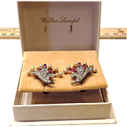 Pristine and Classic Lampl Earrings in Original Box