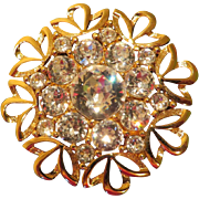 Brilliant Napier Crystal Brooch