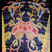 Exquisite Antique Chinese Forbidden Stitch Silk Embroidery