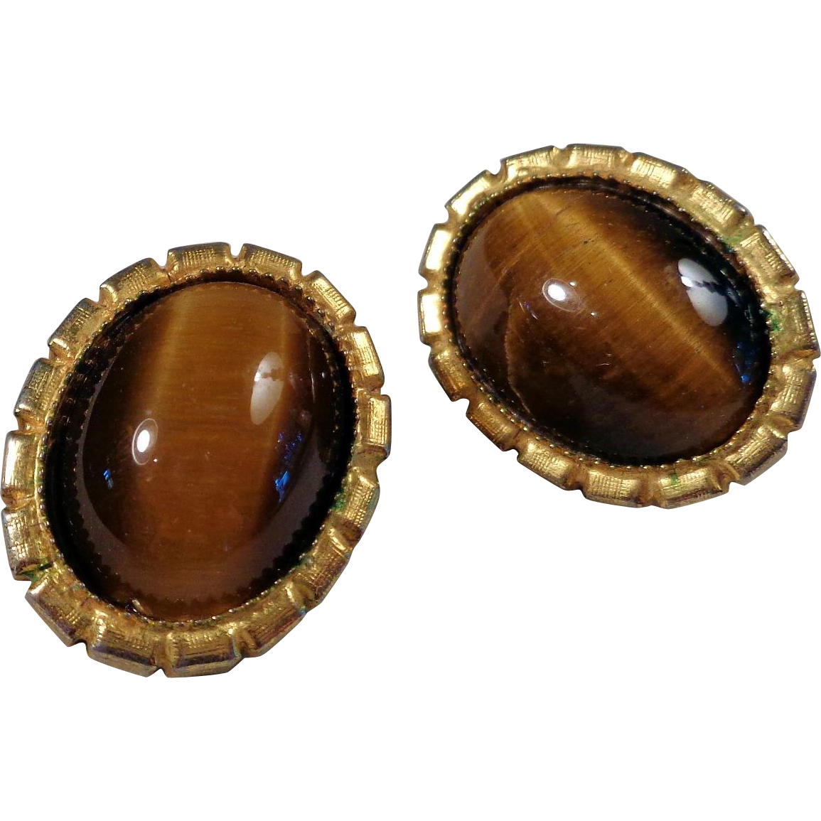 De Lillo Tiger Eye Earrings