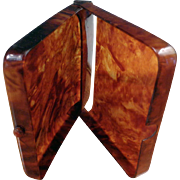 Celluloid Faux Tortoise Shell Cigarette Case