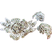 Lisner Marcasite Brooch and Earrings Set