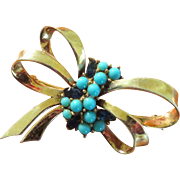 Boucher Phrygian Cap Sterling Blue Brooch- 1946
