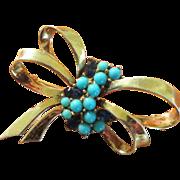 Boucher Phrygian Cap Sterling Blue Brooch- 1946