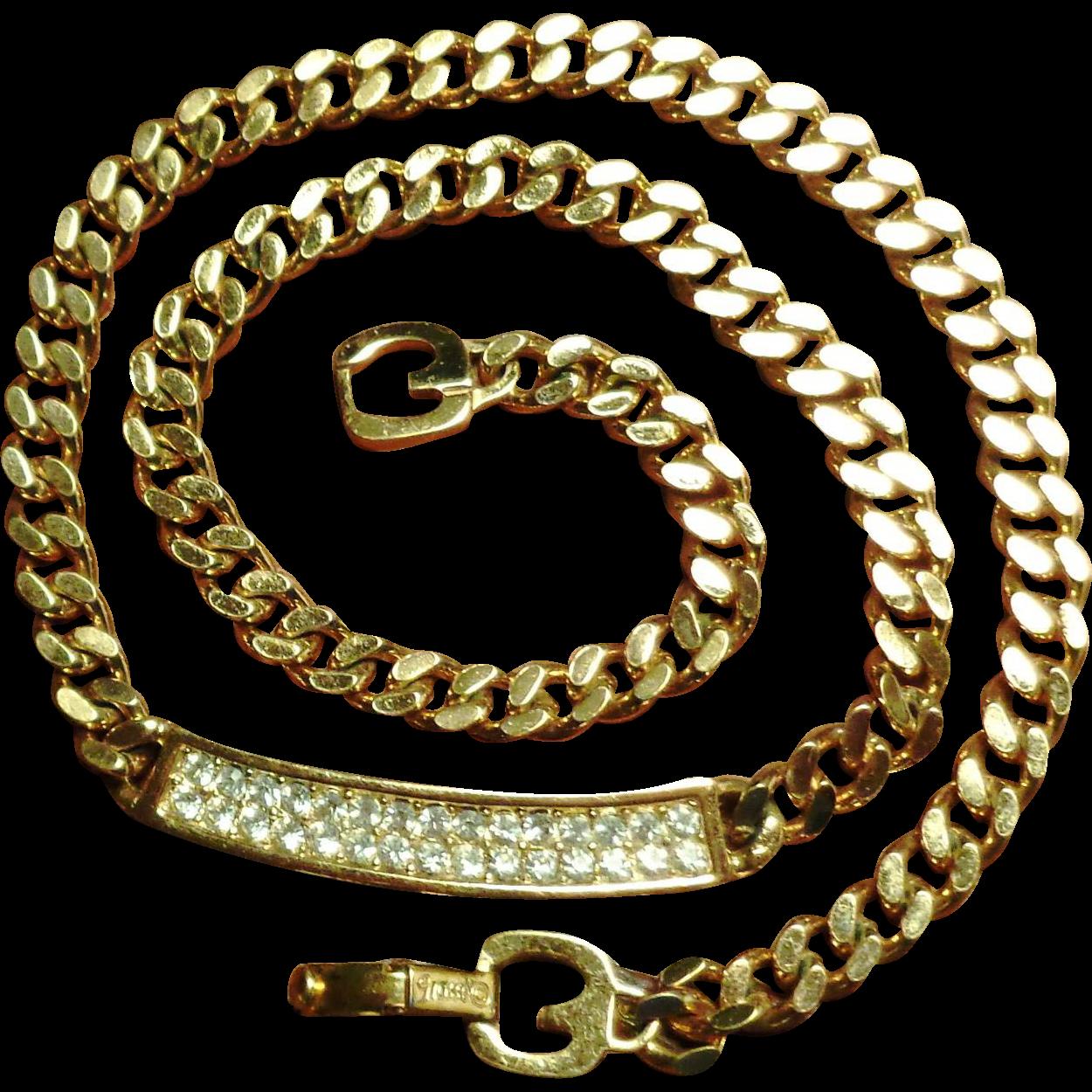 Henkel Grosse Gold Plated Crystal Necklace
