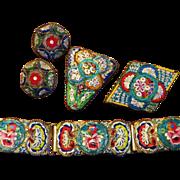 Vintage Italy Micro Mosaic Set