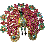 Peacock Figural Brooch