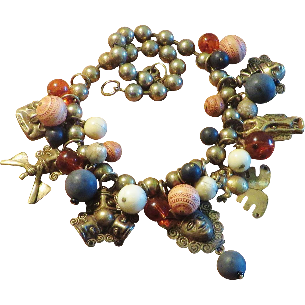 Necklace with Figural Dangles