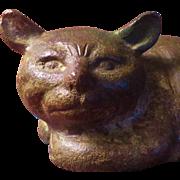 Antique Japanese Bronze Cat Figure