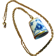 Bing & Grondahl Thimble Necklace