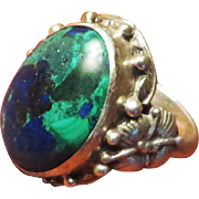 Theodor Fahrner Sterling Azurite Malachite Ring