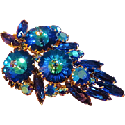 Oscar Charlin DeLizza & Elster Blue Brooch