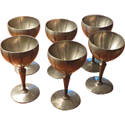 Set of 6 K.S.Co. Pewter Goblets