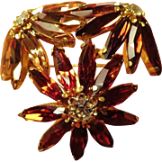 Exquisite Schoffel Austria Domed Brooch