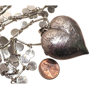 Huge Puffy Heart Vendome Necklace