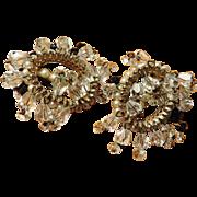 Crystal Hollycraft Dangling Earrings