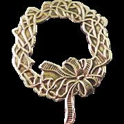 Beautiful Sterling Wreath Brooch