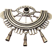 Sterling Evil Eye Brooch