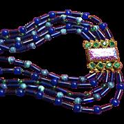 Ornella Italy Art Glass Necklace