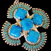 Vrba Castlecliff Blue Pendant - 1970-73