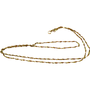 14k Gold Singapore Chain Vintage Necklace