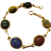 14K Gold Scarab Bracelet