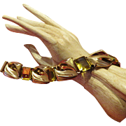 Parisina Boucher Vermeil Topaz Bracelet 1940's