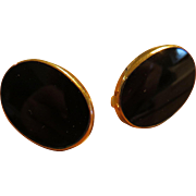 Binder Brothers Gold Filled Onyx Earrings